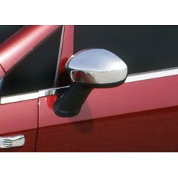 Covers mirrors stainless chrome for Fiat GRANDE PUNTO 2005 - 2009