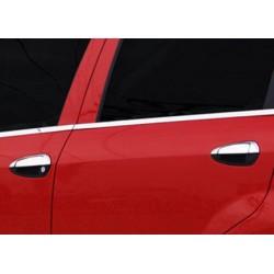 Window trim cover chrom alu for Fiat GRANDE PUNTO 5 door 2005-2009