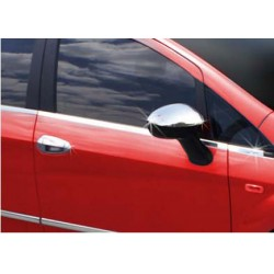 Window trim cover chrom alu for Fiat GRANDE PUNTO 3 doors 2005-2009