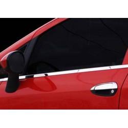 Chrome frame for Fiat PUNTO EVO 3 doors door handle covers