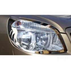 Contour chrome front headlights Fiat DOBLÒ I Facelift 2006-[...]