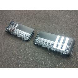 Grilles d'ailes pour Range pour Rover 2011 - Gris argent chrome