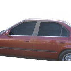 Window trim cover chrom alu for Honda CIVIC 2002-2006