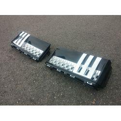 Grilles d'ailes pour Range pour Rover 2011 - Noir argent chrome