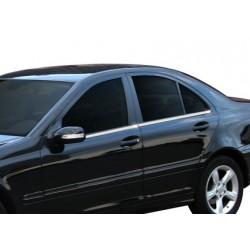 Window trim cover chrom alu for Mercedes class C W203 2001-2007