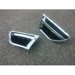Grilles d'aile pour Range pour Rover Sport 2009-2011 noir chrome