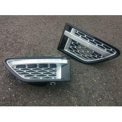 Grilles d'aile pour Range pour Rover Sport 2009-2011 noir gris
