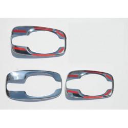 Chrome frame for Opel VIVARO II 3 doors door handle covers