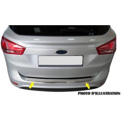 Rear bumper sill cover alu brushed for Opel VIVARO II-[...] Facelift 2010-[...]