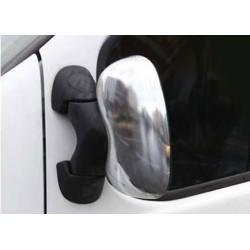 Covers mirrors stainless chrome for Opel VIVARO II-[...] Facelift 2010-[...]