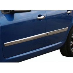Covers rods doors chrome for Peugeot 307 2001-2008