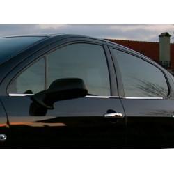 Window trim cover chrom alu for Peugeot 407 2004-2010