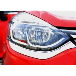 Contour chrome front headlight Renault CLIO IV 2012-[...]