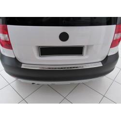 Rear bumper sill cover alu brushed for Skoda YETI 2010-[...]