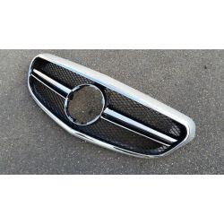 Calandre sport pour Mercedes classe E W212 2014 Classic/Elegance - Grise chrome