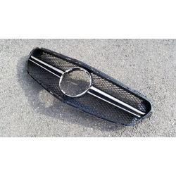 Calandre sport pour Mercedes classe E W212 2014 Avantgarde - Noir chrome chrome