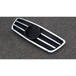 Calandre pour Mercedes Classe E W210 2000-2002 - Noire Chrome