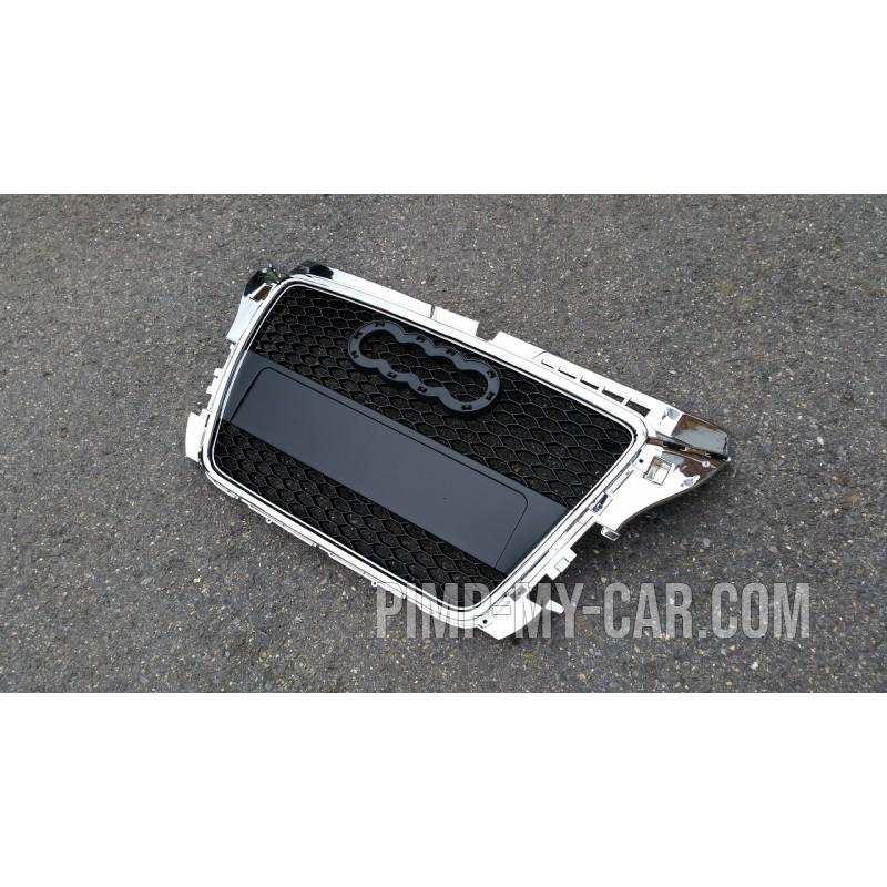 Calandre noire chrome pour Audi A3 2008-2012 - RS3 Style
