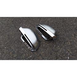 Coques de rétroviseurs pour Audi A6 2008-2010 - Alu matte style S6 RS6