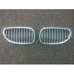 Calandres pour BMW Série 5 E60 - Noir et chrome