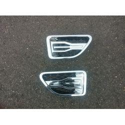Grilles d'aile pour Range pour Rover Sport Hawke style chrome noir