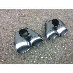 Sorties de pot d'échappement 2x2 pour Mercedes classe E Diesel