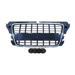Black grille chrome for Audi A3 2008-2012 PDC - S3 Style