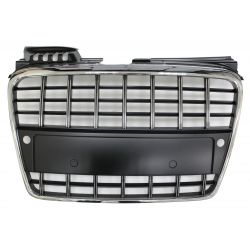 Black grille chrome for Audi A4 B7 2004-2007 SLINE PDC - RS4 Style