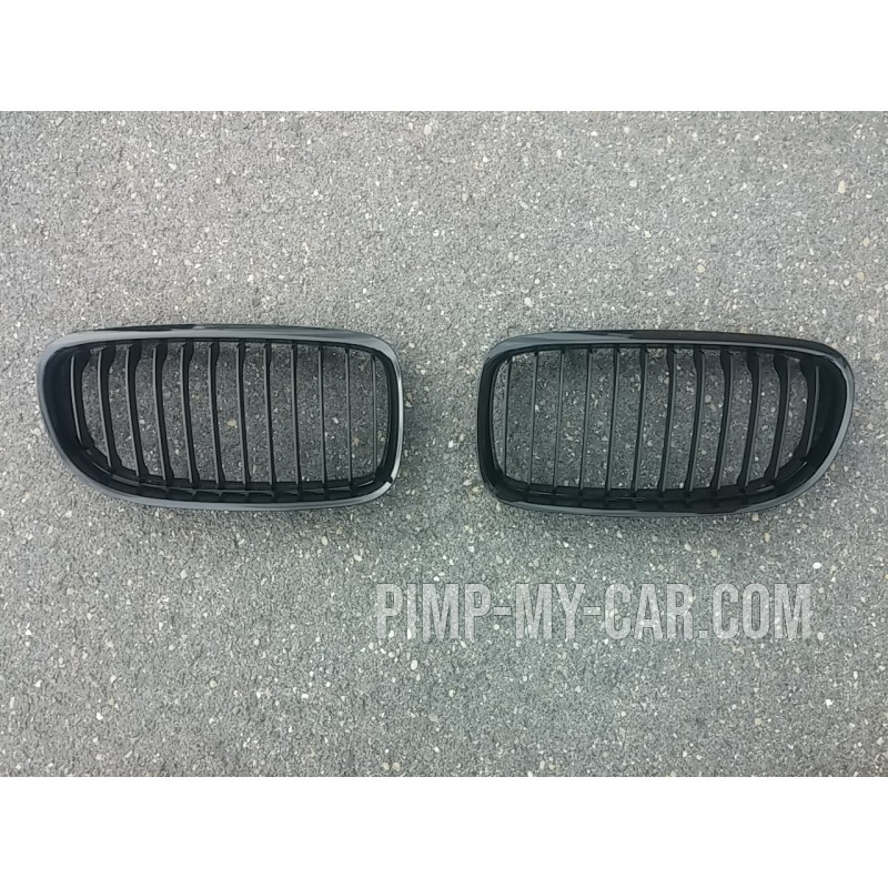 Calandre pour BMW Série 3 E90 LCI 2008-2011 - Noire brillante