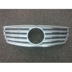 Grille for Mercedes class E W211 2002-2006 - Silver Chrome